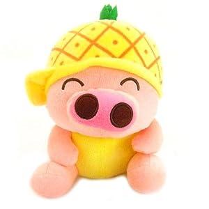 可爱水果麦兜猪毛绒玩具抱枕公仔布娃娃生日礼物 (60厘米, 菠萝款)