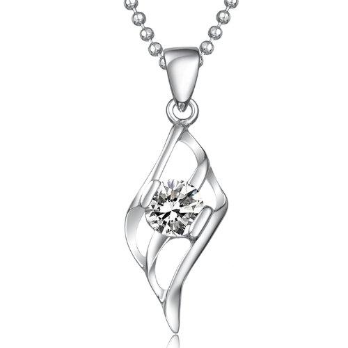Lux-women-925银瑞士钻石吊坠-天使-图片