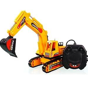 儿童玩具 四通遥控挖土工程车 遥控车 挖土机bb115 (w