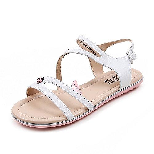 Teenmix 天美意 天美意夏季专柜同款牛皮女凉鞋专柜 6XX06BL5