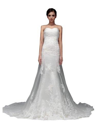 一生一纱新款韩式抹胸公主蓬裙小拖尾新娘婚纱图片