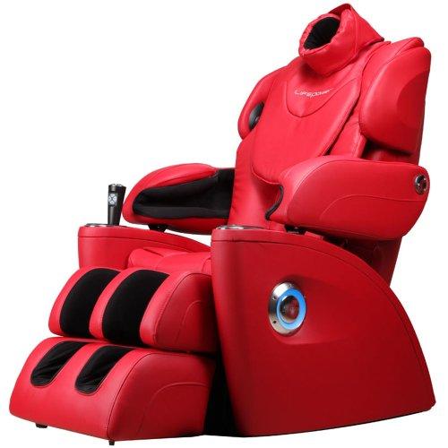 生命动力LP5400I零重力太空舱 家用全身豪华3D按摩椅 头部按摩 脚底滚轮 音乐同步按摩 (红色) 正品特价包邮包安装  买就送:600元的抬上楼服务、168元的按摩椅专用地毯、168元的按摩椅专用防尘套-图片