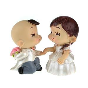 宾琪 超萌最新品 时尚 情侣互送礼品 超可爱男跪着向女求婚姿势 编号