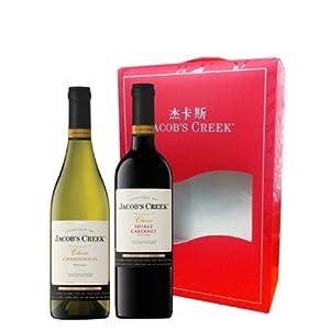 澳洲 Jacob's Creek 杰卡斯 经典系列 葡萄酒双支礼盒 750ML*2瓶 175元(用码后119.5元包邮)