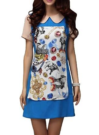 纺连衣裙 手绘图