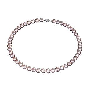 YESON 银生珍珠9-10mm亮彩珍珠项链(紫色)