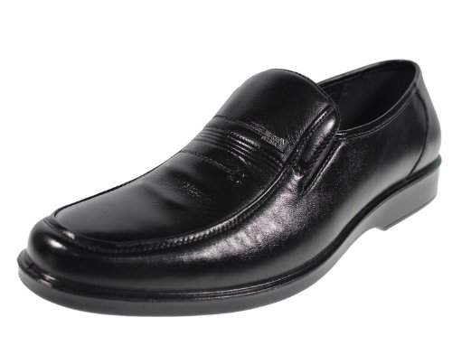 YEARCON 意尔康 日常休闲鞋真皮鞋男单鞋套脚男鞋子 25ZE91055A