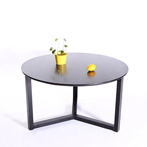 友木友个性创意白橡木家具日式纯实木圆形茶几小户型宜家咖啡桌 (面板