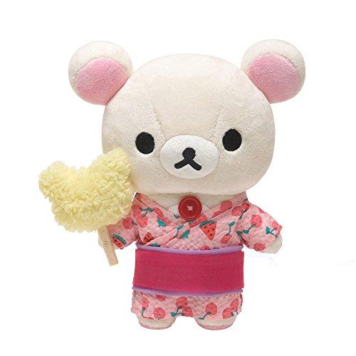 轻松小熊 夏日海滩 西瓜主题 毛绒小公仔 毛绒玩偶玩具 可爱超萌公仔
