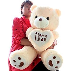 爱心熊 五色丝带泰迪熊 可爱熊娃娃 毛绒玩具玩偶公仔