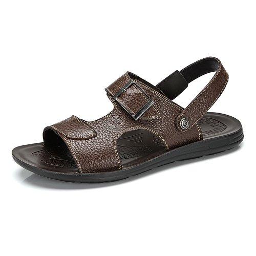 Camel 骆驼牌 正品2014夏季新款真皮潮男鞋日常休闲透气凉鞋子 W422287005