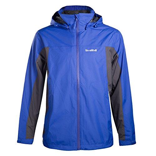 SnowWolf 雪狼 男式 束河冲锋衣 10112103-X010 蓝色 190/104A-图片