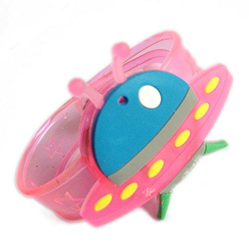 孩派 卡通创意手表 闪光手腕带发光手环儿童礼物小玩具 (飞碟)