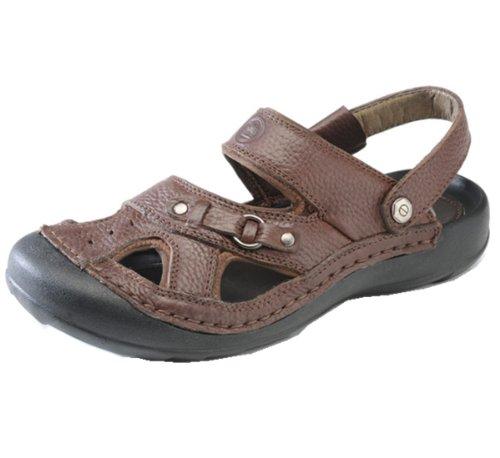 Camel骆驼牌 夏季时尚凉鞋款 头层牛皮 触感细腻 意式车缝 防护鞋头 顶级橡胶 日常休闲 男凉鞋