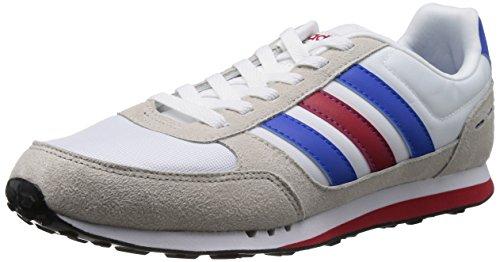 Adidas NEO 阿迪达斯运动生活 RUNNING 男 休闲跑步鞋 NEO CITY RACER F38447 FTWR 白/蓝/校园红 43 (UK 9)