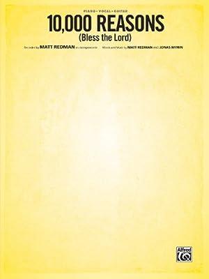 10,000 Reasons Bless Lord Piano Vocal Guitar, Sheet 活页乐谱
