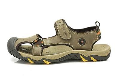 Camel 骆驼 户外鞋 沙滩鞋 情侣款 头层牛皮沙滩凉鞋 82211606