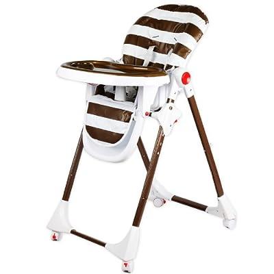 贝驰 儿童宝宝可调档塑料餐桌椅 婴儿吃饭座椅 条纹