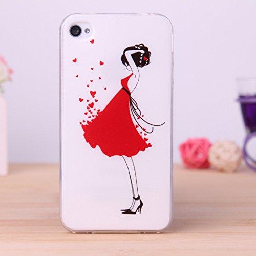 酷猫iphone4手机壳 彩绘图案iphone4s保护套 苹果4s动漫tpu手机软壳