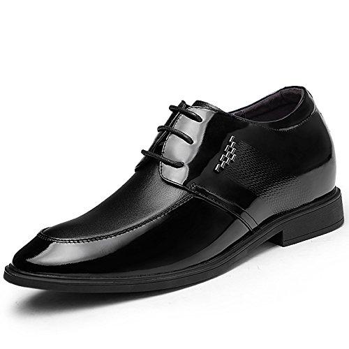 2015春款男士内增高黑色系带皮鞋915931