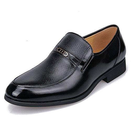 花花公子 playboy男鞋 真皮英伦商务正装男士皮鞋 头层牛皮鞋 中年软底爸爸鞋办公室单鞋低帮鞋