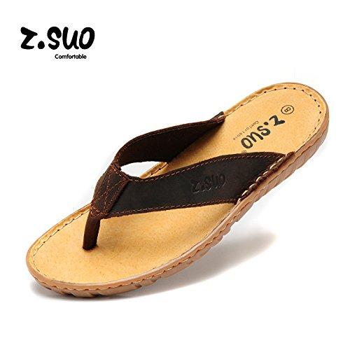 Z.SUO走索 夏季韩版 拖鞋 凉鞋 网鞋 帆布鞋ZS618N深棕黄
