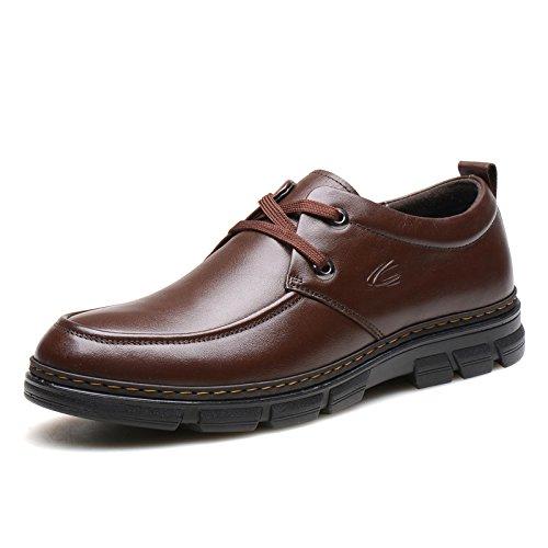 德国 骆驼 动感英伦男士真皮鞋商务休闲鞋男 英伦厚底低帮鞋子92060