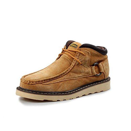 Yulu 优牛 时尚商务休闲牛皮鞋头层皮正装男鞋子潮流英伦中邦休闲鞋短靴子