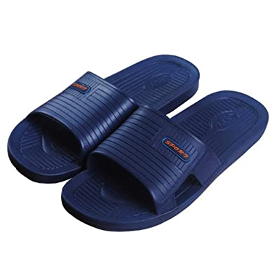 蓝万928男式拖鞋 浴室拖鞋 蓝色