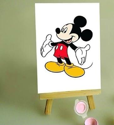 佳彩天颜 diy手绘数字油画 客厅装饰画 快乐米奇 送
