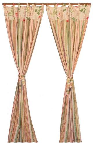 软装饰成套系列花样年华全棉活性帆布窗帘1.5米宽1片式条纹B版