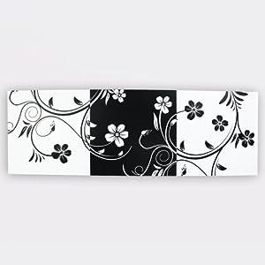 日光生活 正方形无框画 黑白五瓣花 客厅 卧室 墙画 挂画 装饰画 40*4