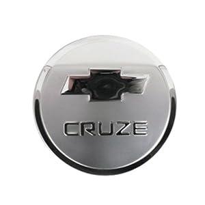 雪佛兰科鲁兹专用不锈钢油箱盖贴 科鲁兹油箱盖装饰亮片高清图片