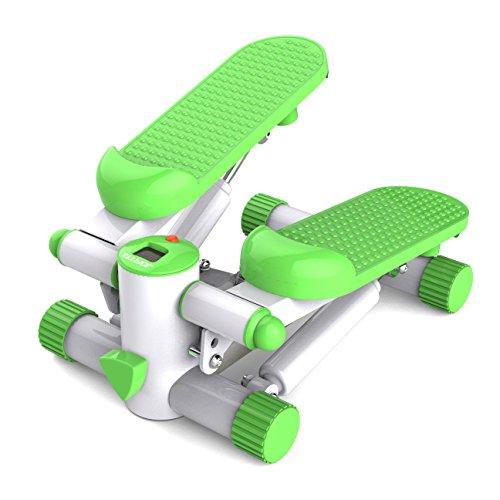 JUFIT 居康 JFF001S6型 液压踏步机 静音多功能左右摇摆踏步机瘦腿器瘦腰机 迷你踏步机减肥运动机 带计数显示器送拉绳 (青草绿-送拉绳)-图片