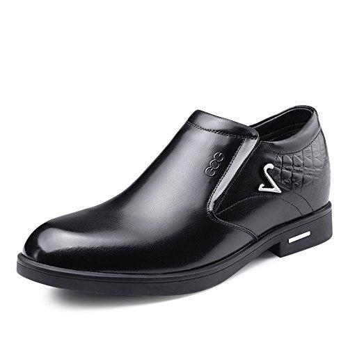 2015冬季男士内增高商务低帮套脚棉鞋6.5厘米415419