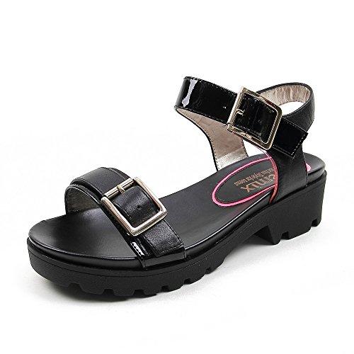 Teenmix 天美意 天美意夏季专柜同款牛皮女凉鞋专柜 6YK04BL5