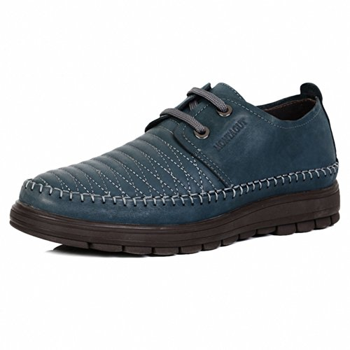 Montagut 梦特娇 正品男鞋 时尚英伦日常商务休闲牛皮鞋 37码低帮系带耐磨鞋