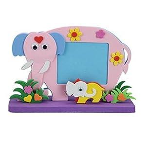 制作 立体动物相框 儿童diy创意手工粘贴相框画 diy手工宝宝相框 大象
