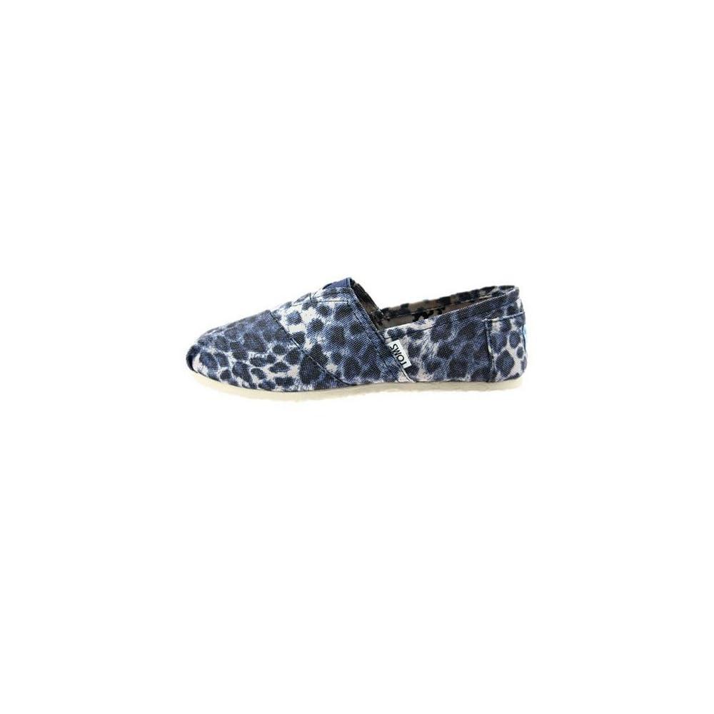 toms 叠影豹纹帆布鞋
