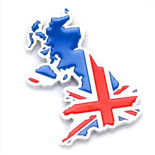 欧洲与英国国旗的 3d 地图