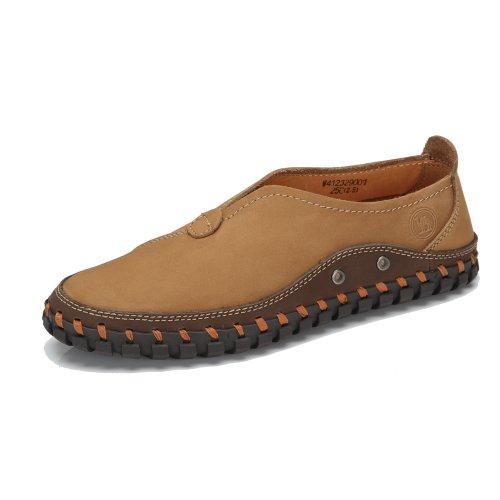 骆驼牌 春夏板鞋潮流韩版运动男鞋圆头牛皮大码男士休闲鞋子透气潮 W412329001