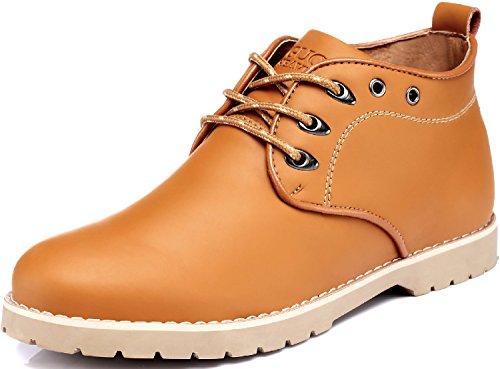 古奇天伦 5669 内增高男鞋 牛皮高帮鞋 硬汉工作鞋子