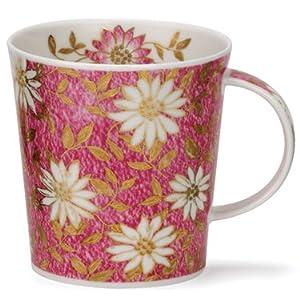 英国DUNOON骨瓷杯0.32L,洛蒙德杯型-雅园.粉红(22K黄金饰面),特价促销,英国制造(LO-E-NUO_3)