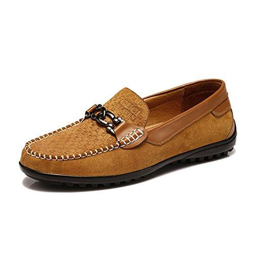 guciheaven 古奇天伦 男士真皮反毛牛皮英伦时尚风男鞋韩版日常休闲豆豆鞋驾车鞋懒人鞋5655