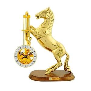 Rustico 洛斯蒂克 纯铜精美时尚 古董收藏款座钟 大金马