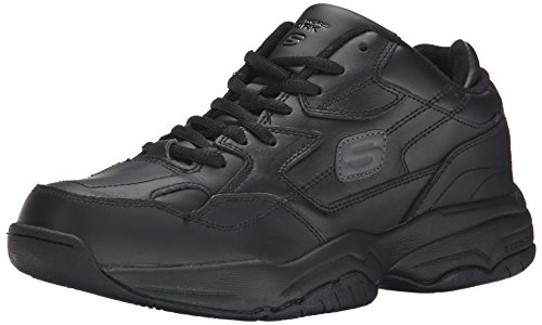 Skechers for Work Men's Keystone Sneaker,Black,7.5 M US