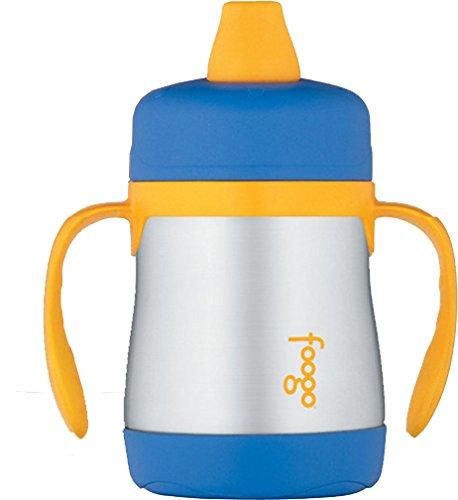 美国THERMOS膳魔师foogo防漏保温杯 学饮杯 训练杯 鸭嘴杯 带手柄 不锈钢 (6个月以上)
