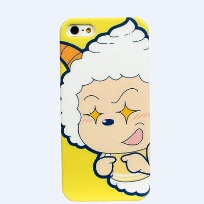 iphone5/5s手机壳 喜羊羊与灰太狼 超萌懒洋洋 超耐磨