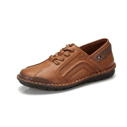 骆驼牌 男鞋 头层牛皮鞋 耐磨休闲流行潮男鞋子 W432381010