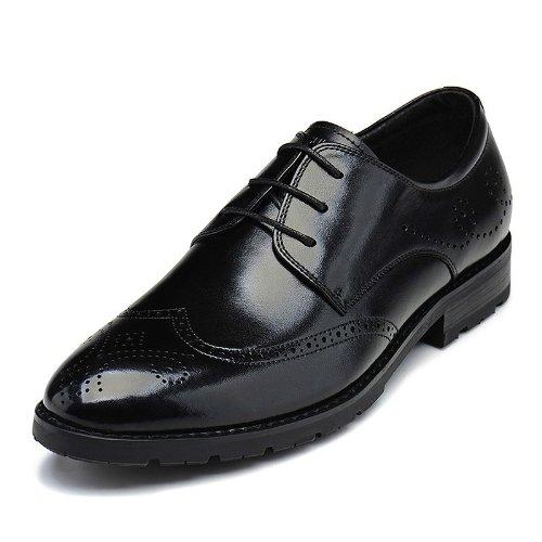 Fuguiniao 英伦风经典时尚商务休闲鞋 真皮柔软正装鞋 简约舒适系带男鞋 男鞋